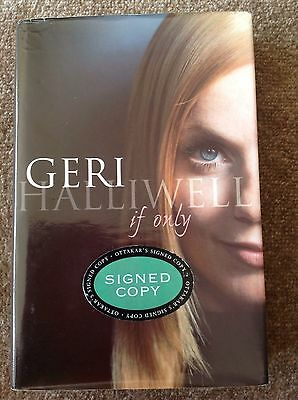 Spice Girls Geri Halliwell Signed Autobiography If Only Genuine Item
