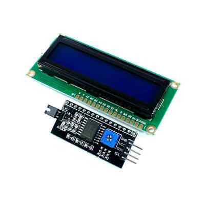 1602 16×2 Serial HD44780 Character LCD White on Blue Display Board with IIC/I2C