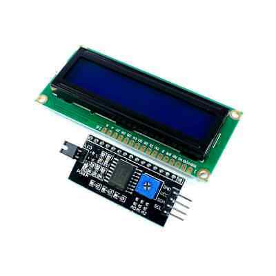 1602 16x2 Serial HD44780 Character LCD White on Blue Display Board with IIC/I2C