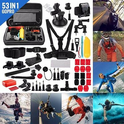 53 in 1 Accessories Kit for GoPro Hero 5 4 3 2 1 Action Camera Bundle Set SJCAM