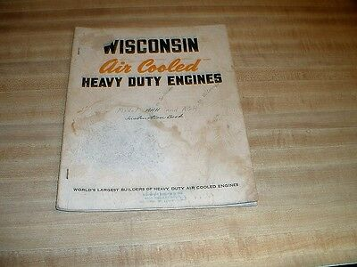 Wisconsin Instruction Manual For Model AA,AB,ABS,AK,AKS Engines