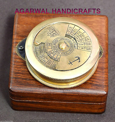 Decorative Calender Brass Compass Antique Compass Vintage Compass Sundial Compas