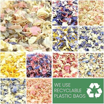 Luxury Dried Petal WEDDING CONFETTI Real Delphinium Petals Natural Biodegradable