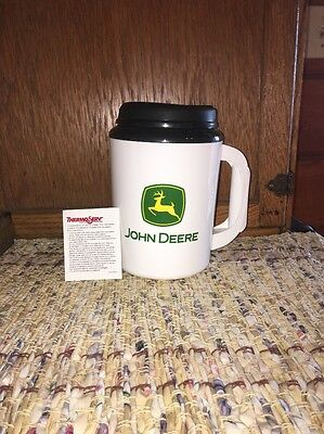 John Deere Thermo-Serv Jumbo Coffee Drink Thermos Extra Large Tractor Cup Mug 34