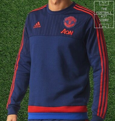 Man Utd Training Sweater - Official Adidas MUFC Football Training  - Mens