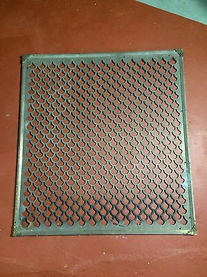 Art Deco Solid Brass Antique Vent Cover Grate