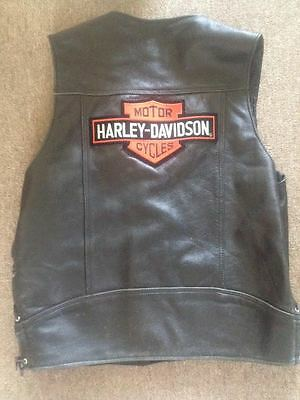 HARLEY DAVIDSON LEATHER VEST BUFFALO NICKELS SNAPS MENS 3XL USA by WALTER DYER
