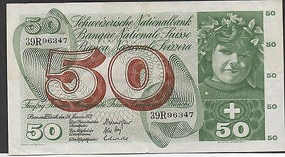 Switzerland , 50 Franken , 24.1.1972 , P 48l , Series 39R