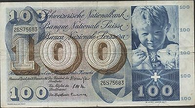 Switzerland , 100 Franken , 21.12.1961 , P 49d , Series 26S