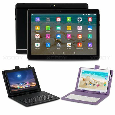 10 inch Google Android 6.0 Tablet PC 4Core 3G 2SIM GPS Unlocked 10.1'' Keyboard