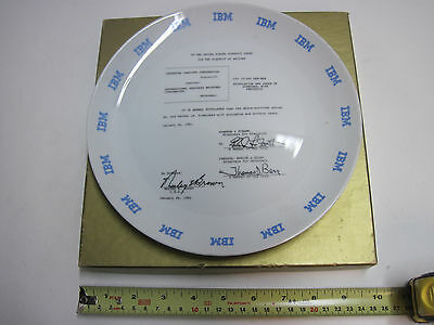 Vintage IBM Collectible Plate Commemorative Greyhound Computer settlement 1981