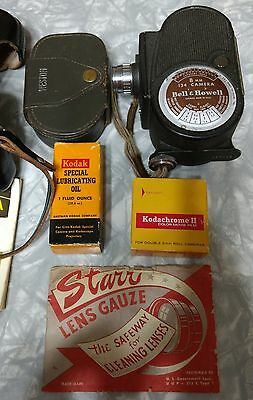 Vintage Camera Lot Konica 35mm - Bell & Howell 8mm Collectors-Exposure Meter
