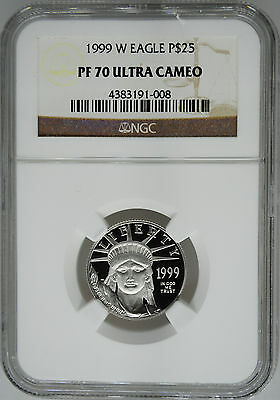 1999-W NGC PF70 1/4 oz Proof Platinum Eagle $25