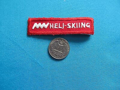 *** 1 Rare 80S Heli-Skiing Helicopter Ski Downhill Snow Patch Crest Emblem ****