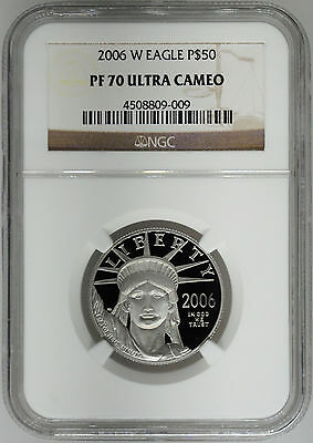2006-W NGC PF70 1/2 oz Proof Platinum Eagle $50