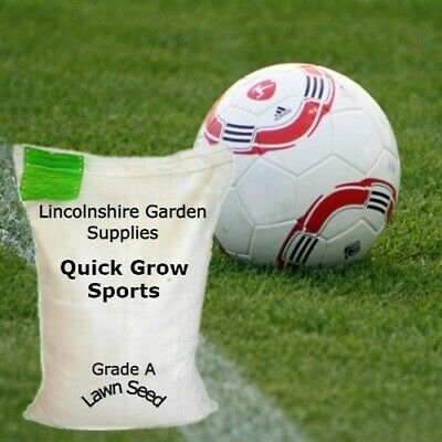 Grass Seed.QUICK GROW SPORTS. - In Packs To Cover from 10 sq M - upto - 250 sq M