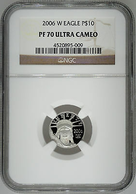 2006-W NGC PF70 1/10 oz Proof Platinum Eagle $10