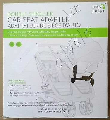 NEW Baby Jogger Double Stroller Car Seat Adapter For City Mini GT BJ90227 Multi