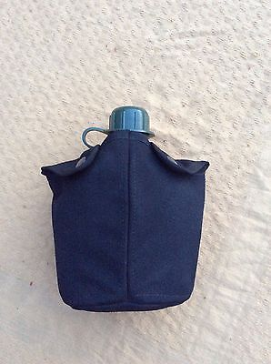 Dutch Water Bottle With Black MOLLE Dutch Army Cover