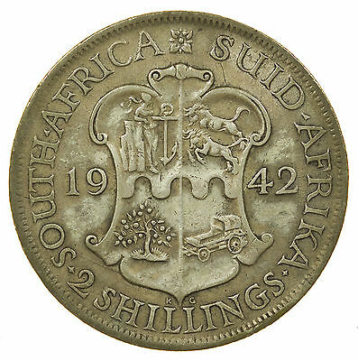 South Africa, 2 Shillings, Silver, 1942