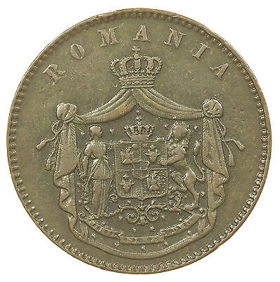Romania, 10 Bani, Watt & Co, 1867