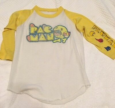 WOW Vintage 80's Pac Man Shirt Small Rare Hard To Find Authentic Thin Comfy cool