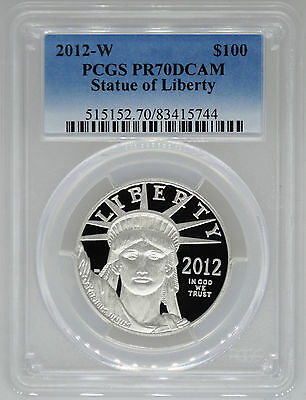 2012-W PCGS PR70 1 oz Proof Platinum Eagle $100