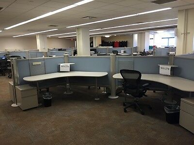 Herman Miller Resolve 48h cubicles - Qty of 6  (arranged in 6-pack)