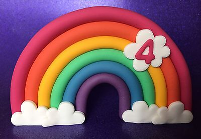 *** Edible Rainbow Cake Toppers 3D FIRST BIRTHDAY CAKE DECORATIONS ***