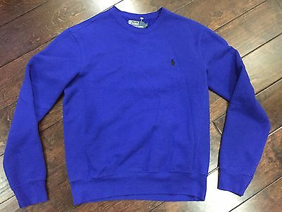 POLO by RALPH LAUREN Mens Woman Blue Cotton  Sweater Pullover Size Small