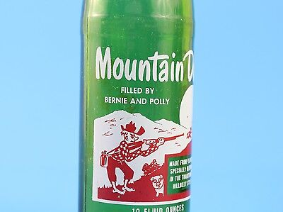 Vintage 1960s Mountain Dew Hillbilly Bottle 10 oz Filled By: Bernie and Polly