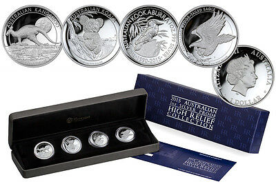 2015 Australian 1 oz Silver Proof High Relief Collection 4 coin set