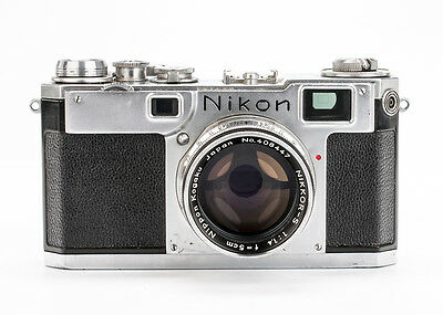 Nikon S2 Rangefinder Camera with 35, 50, 135mm