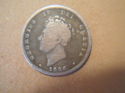 1826 George Iv Uk Silver Shilling Coin  Georgius Fourth Gb