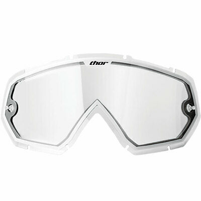 THOR MX Motocross Lens w/Tearoff Posts for Kids Enemy Goggles (Clr/White)