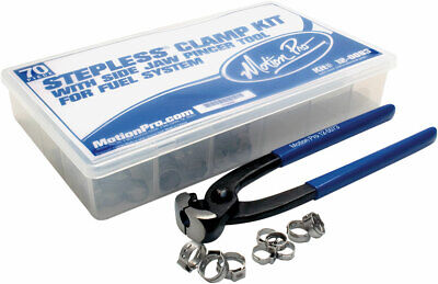 MOTION PRO Stepless Clamp Fuel Line Fittings Kit w/Pincer Tool 80 pcs (12-0083)