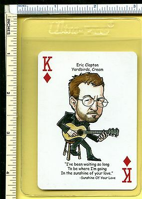ERIC CLAPTON Rock Roll Playing Swap Card; Sunshine of Your Love; Single; nm/m