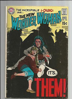 Wonder Woman 185 Vg- Very Good- Ow/white Pages Dc Silver Age Comic 1969