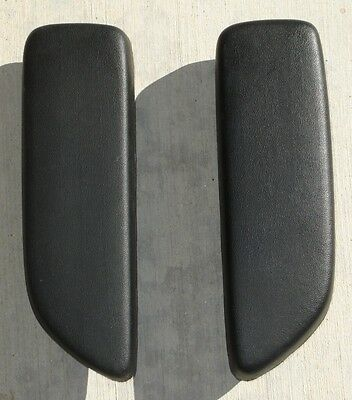 Mopar 1967 68 69 Dodge Plymouth Barracuda Convertible Arm Rest Pads WHITE BLACK