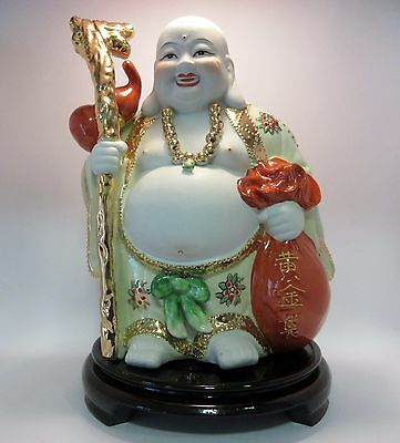 25 cm Happy Laughing Wealthy Buddha on Stand (Post or Local Pickup)