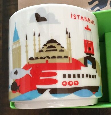 New In Box Starbucks ISTANBUL Mug YOU ARE HERE Series 2016 Purchased in TURKEY