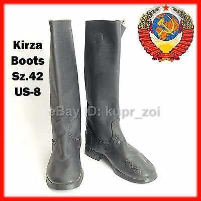 Rare Sz.42 SOVIET RUSSIAN MILITARY HIGH BOOTS Red ARMY Jack Kirza FREE SHIP!!!