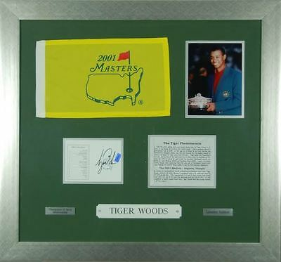 Tiger woods Limited Edition Very Rare 2001 Masters Signed with Authentication.