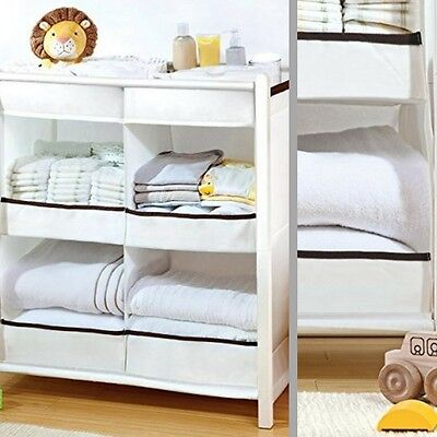 Baby Nursery Organizer Modern Room Decor Baby Storage Clothes Diapers Wipes Home