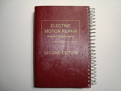 Electric Motor Repair by Robert Rosenberg Book