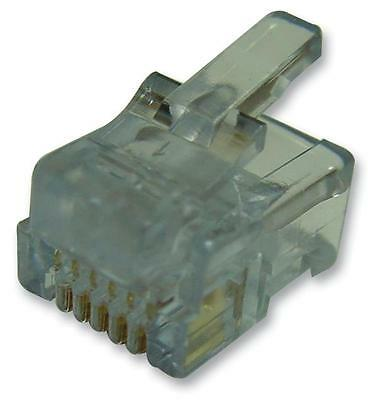 RJ12 PLUGS SOLID WIRE/ROUND Connectors Modular