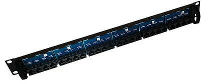 PANEL THROUGH COUPLER 24 WAY CAT5E Connectors Patch Panels, PANEL, THROUGH