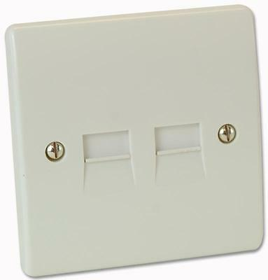 TELEPHONE SOCKET SECONDARY TWIN Electrical Switches & Socket Outlets