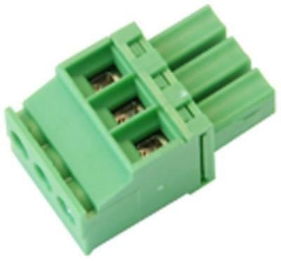 TERMINAL BLOCK RA PLUG 3.50MM 3 WAY Connectors Terminal Blocks, TERMINAL
