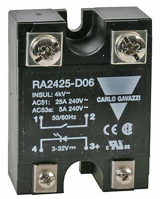 SSR: 240VAC/25A - DC INPUT Solid State Relays Panel Mount